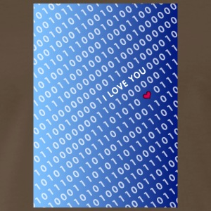 binary love blue - Men's Premium T-Shirt