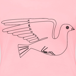 Stylized Dove Illustration - Women's Premium T-Shirt