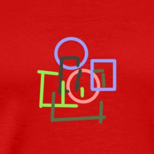 Colourful Geometry - Men's Premium T-Shirt