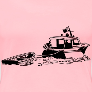 Boat with dinghy - Women's Premium T-Shirt