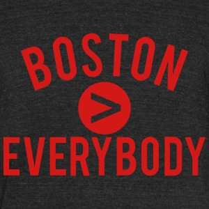 boston everybody - Unisex Tri-Blend T-Shirt by American Apparel