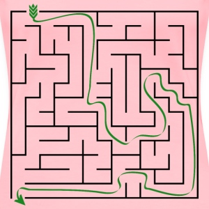 Solution to Simple Maze Puzzle - Women's Premium T-Shirt