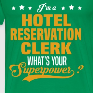 Hotel Reservation Clerk - Men's Premium T-Shirt