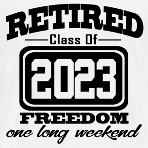 retired 2023 121212121.png T-Shirts - Men's Premium T-Shirt