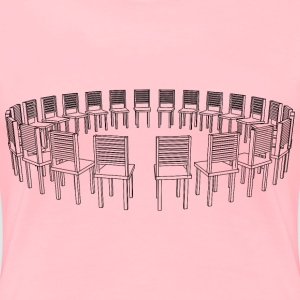 Circle of chairs 2nd perspective - Women's Premium T-Shirt