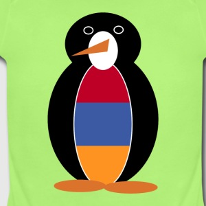Mr. Penguin in Armenia Short Sleeve Baby Bodysuit - Short Sleeve Baby Bodysuit