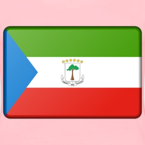 Equatorial Guinea flag (bevelled) - Women's Premium T-Shirt