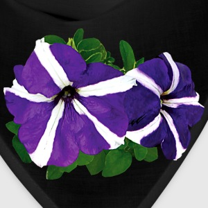 Two Purple and White Petu Caps - Bandana
