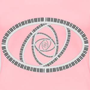 Piano Keys Ellipse Vortex - Women's Premium T-Shirt