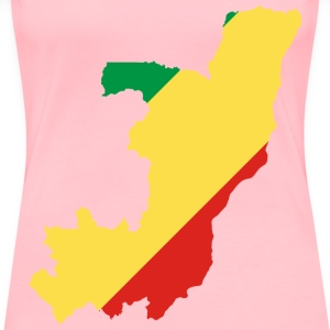 Congo Flag Map - Women's Premium T-Shirt