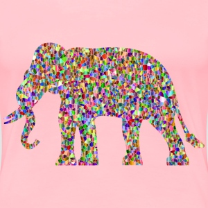 Vivid Chromatic Elephant Silhouette No Background - Women's Premium T-Shirt