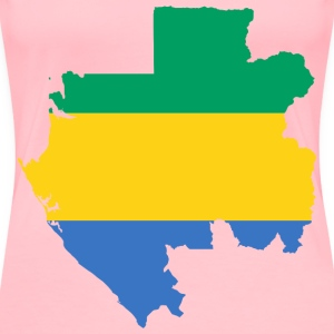 Gabon Flag Map - Women's Premium T-Shirt