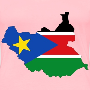 South Sudan Flag Map With Stroke - Women's Premium T-Shirt