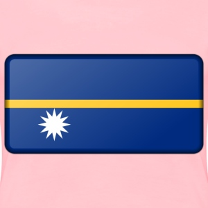 Nauru flag (bevelled) - Women's Premium T-Shirt