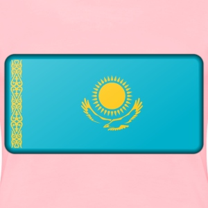 Kazakhstan flag (bevelled) - Women's Premium T-Shirt