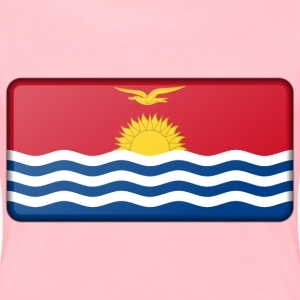 Kiribati flag (bevelled) - Women's Premium T-Shirt