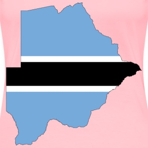 Botswana Flag Map With Stroke - Women's Premium T-Shirt