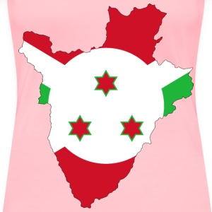 Burundi Flag Map With Stroke - Women's Premium T-Shirt