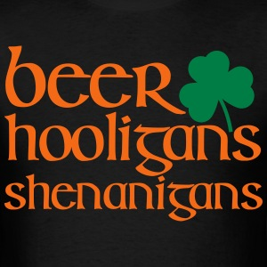 Beer Hooligans Shenanigans Shamrock shirt - Men's T-Shirt