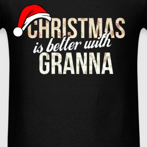 Granna - Christmas is better with Granna - Men's T-Shirt
