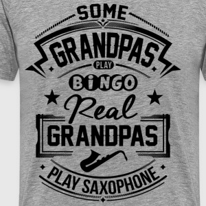 Real Grandpas Play Sax T-Shirts - Men's Premium T-Shirt