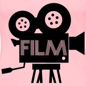 Old Fashioned Film Camera Icon - Women's Premium T-Shirt