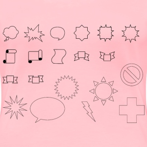 Set Of Basic Shapes 2 - Women's Premium T-Shirt