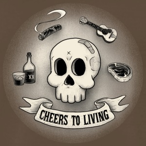 Cheers to living3 8transdither - Men's Premium T-Shirt