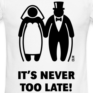 It's Never Too Late! (Mature Couple / Wedding) - Men's Ringer T-Shirt