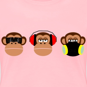 3 monkeys - Women's Premium T-Shirt