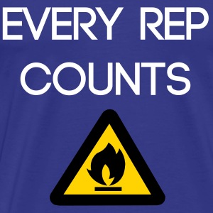 Every rep counts - Men's Premium T-Shirt