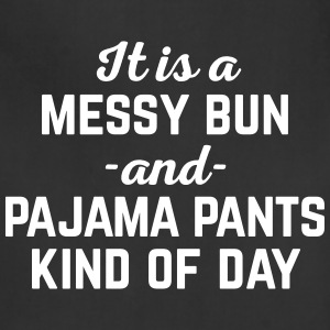 Messy Bun Day Funny Quote Aprons - Adjustable Apron