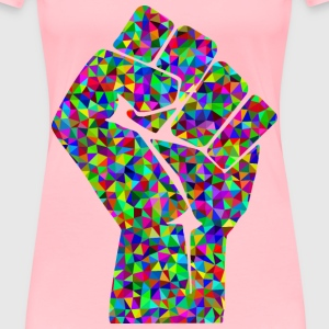 Prismatic Low Poly Fist - Women's Premium T-Shirt
