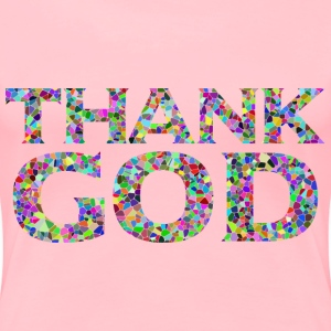 Prismatic Tiled Thank God Typography - Women's Premium T-Shirt