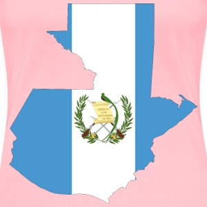 Guatemala Map Flag - Women's Premium T-Shirt