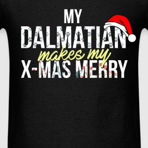 Dalmatian - My Dalmatian makes my X-mas marry! - Men's T-Shirt