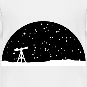 Astronomy, Telescope and starry night sky Baby & Toddler Shirts - Toddler Premium T-Shirt