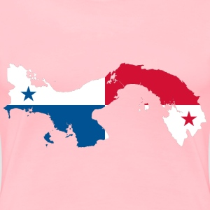 Panama Map Flag - Women's Premium T-Shirt