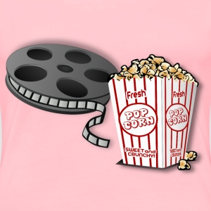 Hot POPcorn And A Movie! Remix - Women's Premium T-Shirt