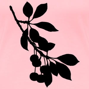 Sour cherry tree 2 (silhouette) - Women's Premium T-Shirt