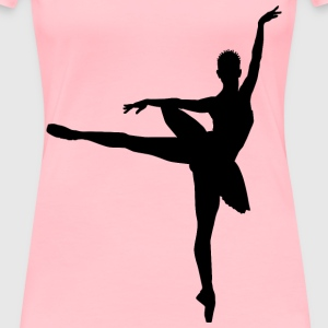 Braided Hair Ballerina Silhouette - Women's Premium T-Shirt