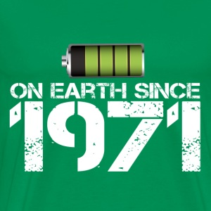 on earth since 1971 - Men's Premium T-Shirt