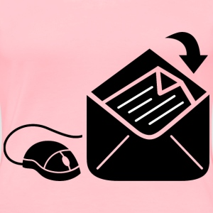 Mouse Envelope Icon - Women's Premium T-Shirt
