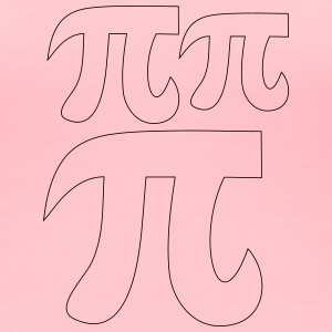 Pi day coloring fat pi symbols - Women's Premium T-Shirt
