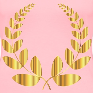 Gold Laurel Wreath 2 No Background - Women's Premium T-Shirt
