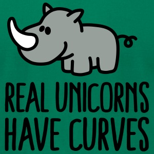Real unicorns have curves T-Shirts - Men's T-Shirt by American Apparel