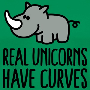Real unicorns have curves T-Shirts - Men's Premium T-Shirt