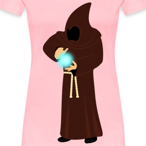 Monk projecting energy - Women's Premium T-Shirt