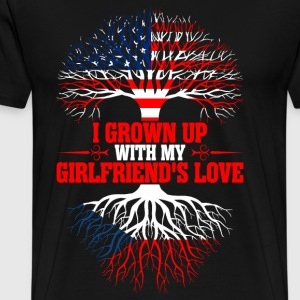American Grown Up With My Czech Girlfriends Love T-Shirts - Men's Premium T-Shirt