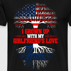 American Grown Up With My Finnish Girlfriends Love T-Shirts - Men's Premium T-Shirt